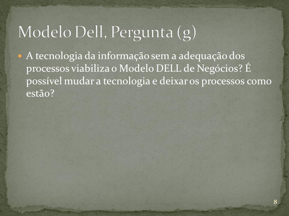 Modelo Dell, Pergunta (g)