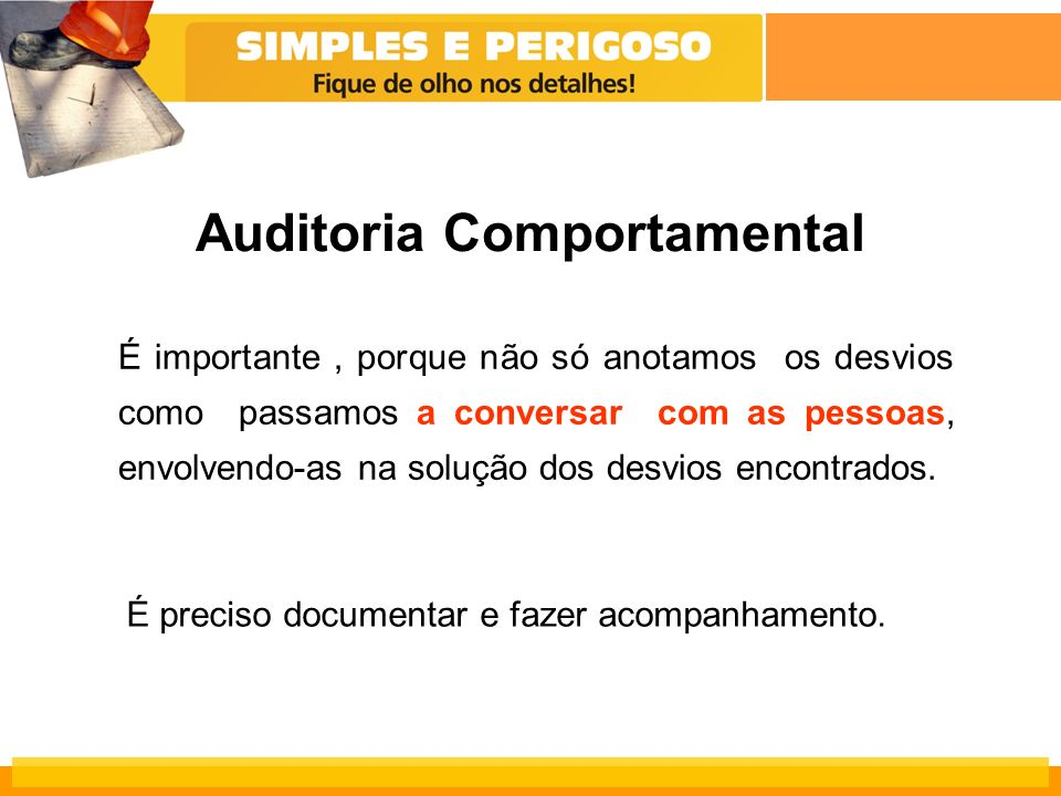 Auditoria Comportamental
