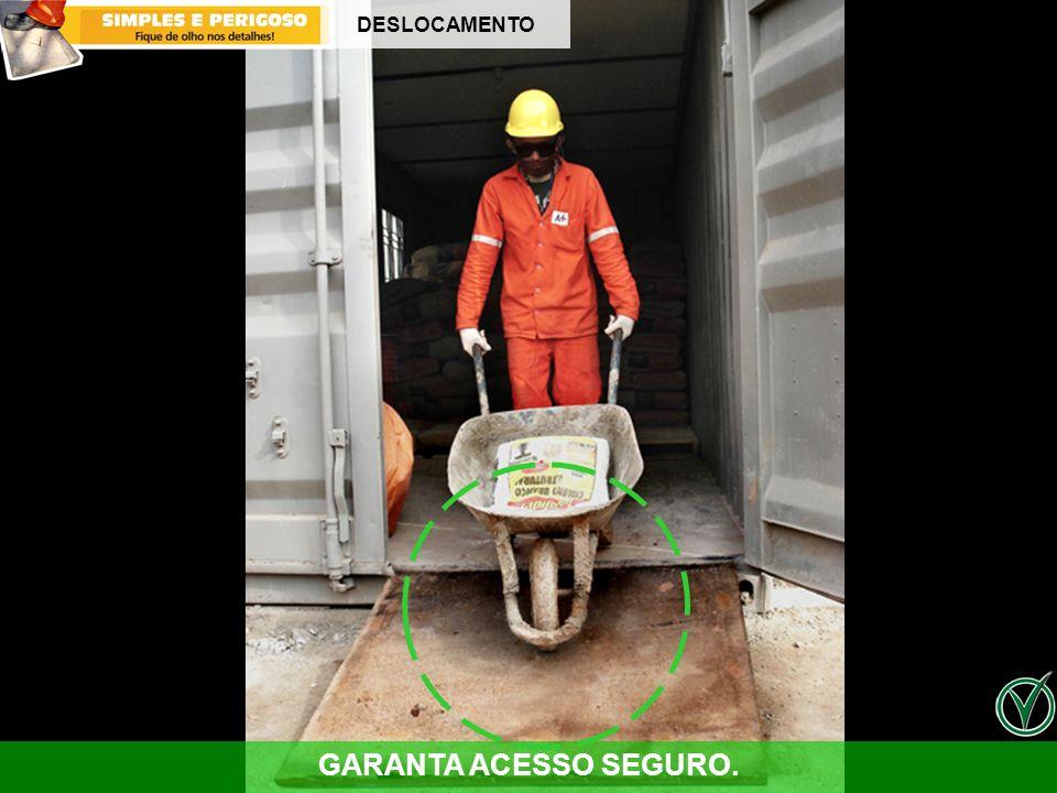 GARANTA ACESSO SEGURO. DESLOCAMENTO