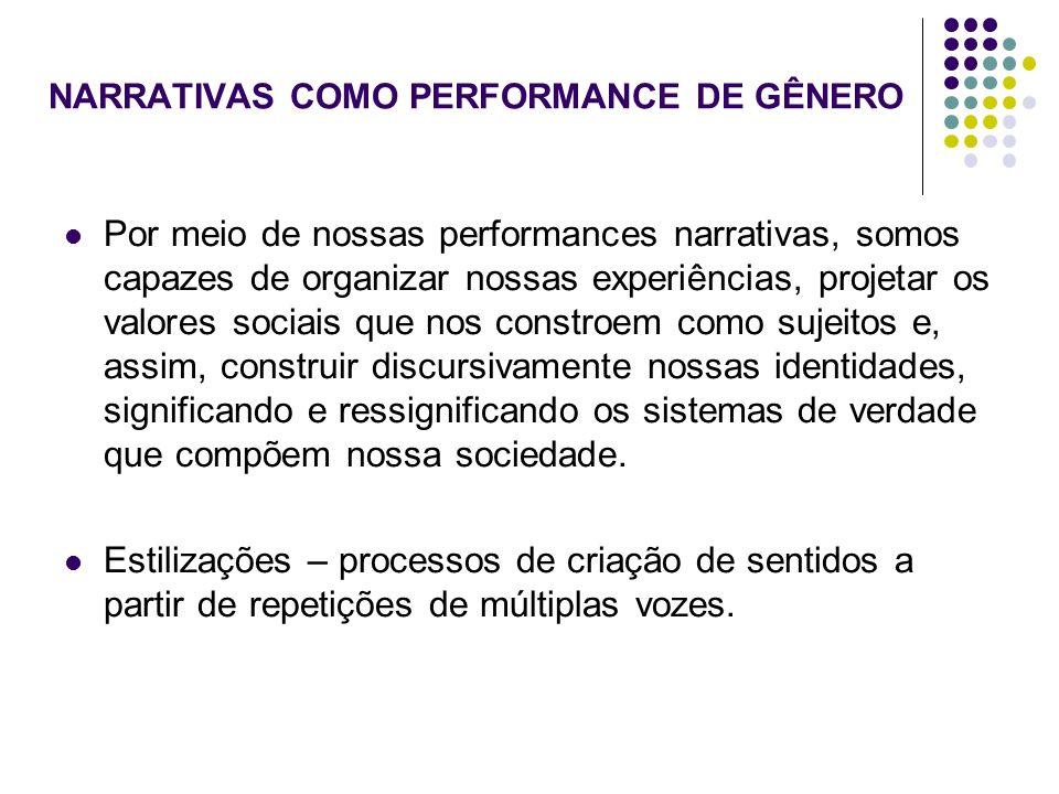 NARRATIVAS COMO PERFORMANCE DE GÊNERO