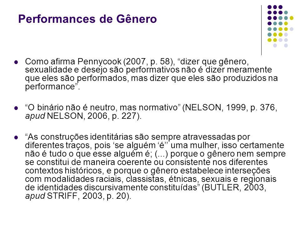 Performances de Gênero