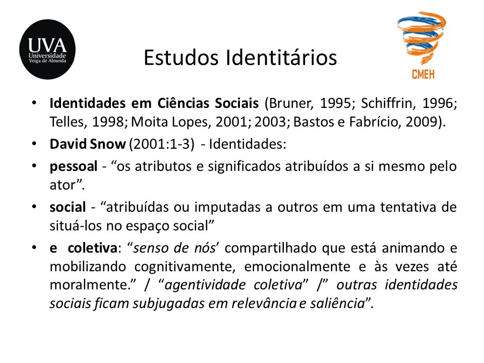Estudos Identitários CMEH.