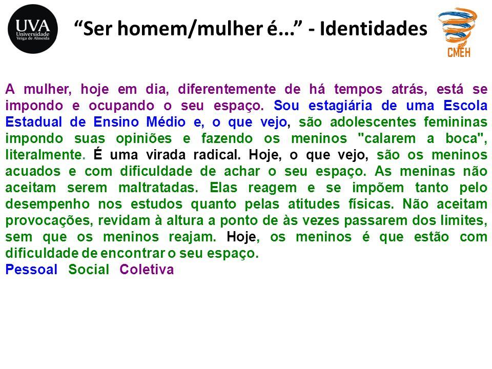 Ser homem/mulher é... - Identidades