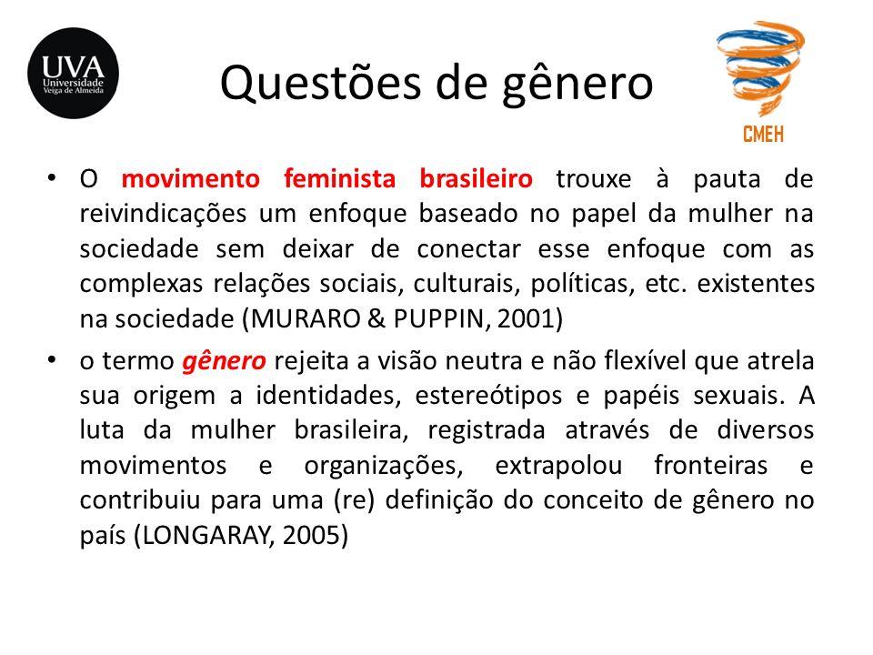 Questões de gênero CMEH.