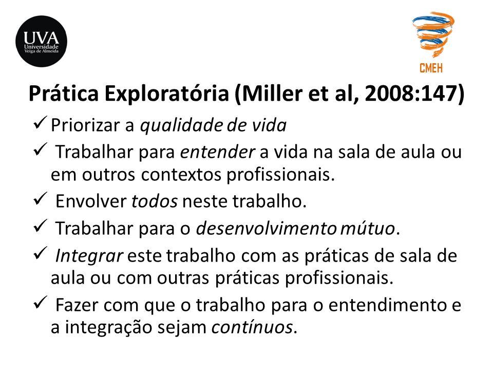 Prática Exploratória (Miller et al, 2008:147)