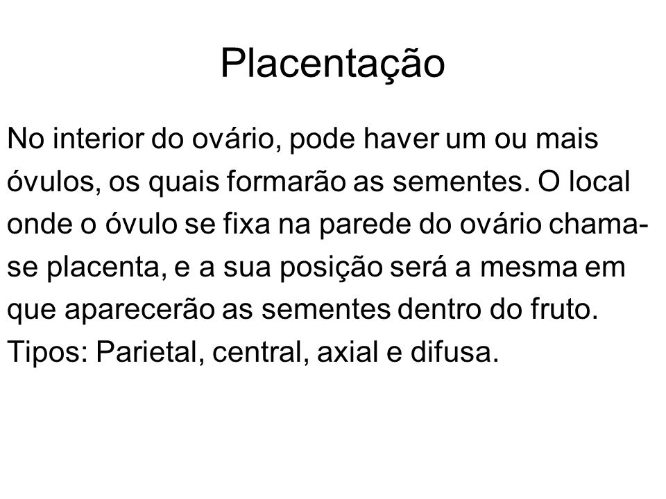 Placentação