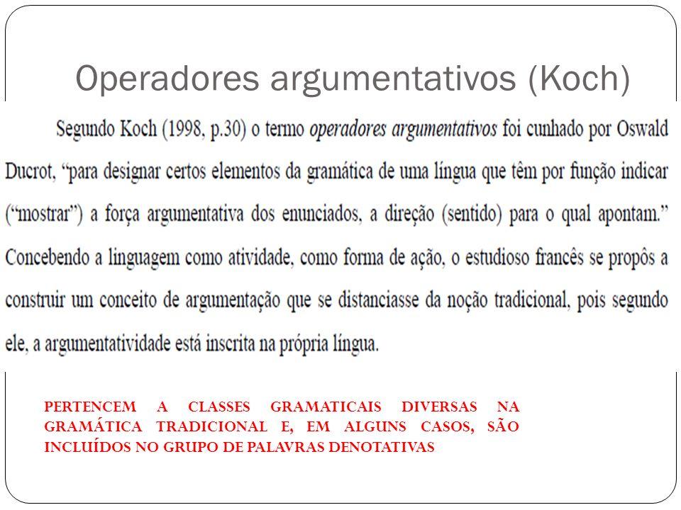 Operadores argumentativos (Koch)