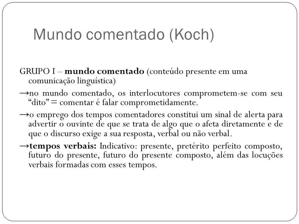 Mundo comentado (Koch)