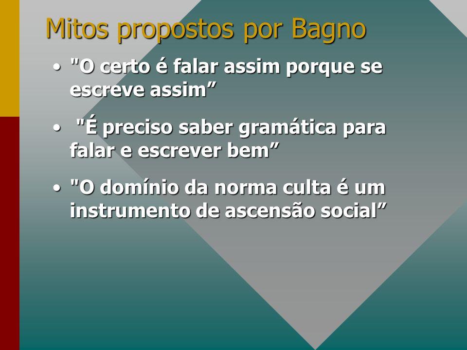 Mitos propostos por Bagno