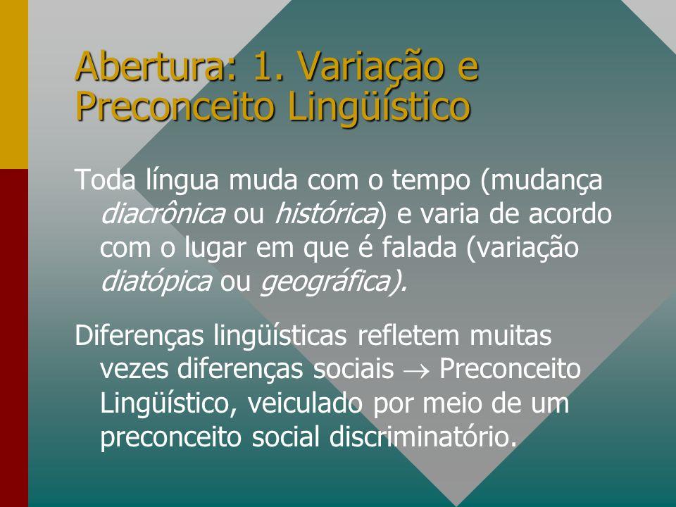 Abertura: 1. Variação e Preconceito Lingüístico