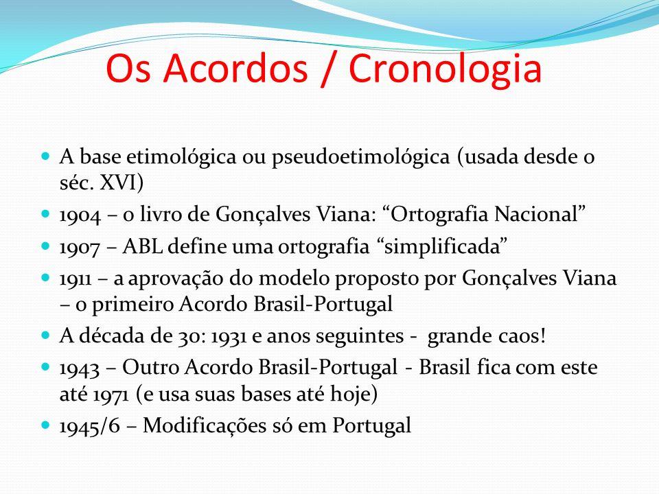 Os Acordos / Cronologia