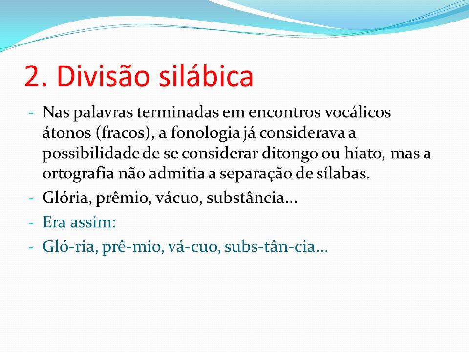 2. Divisão silábica