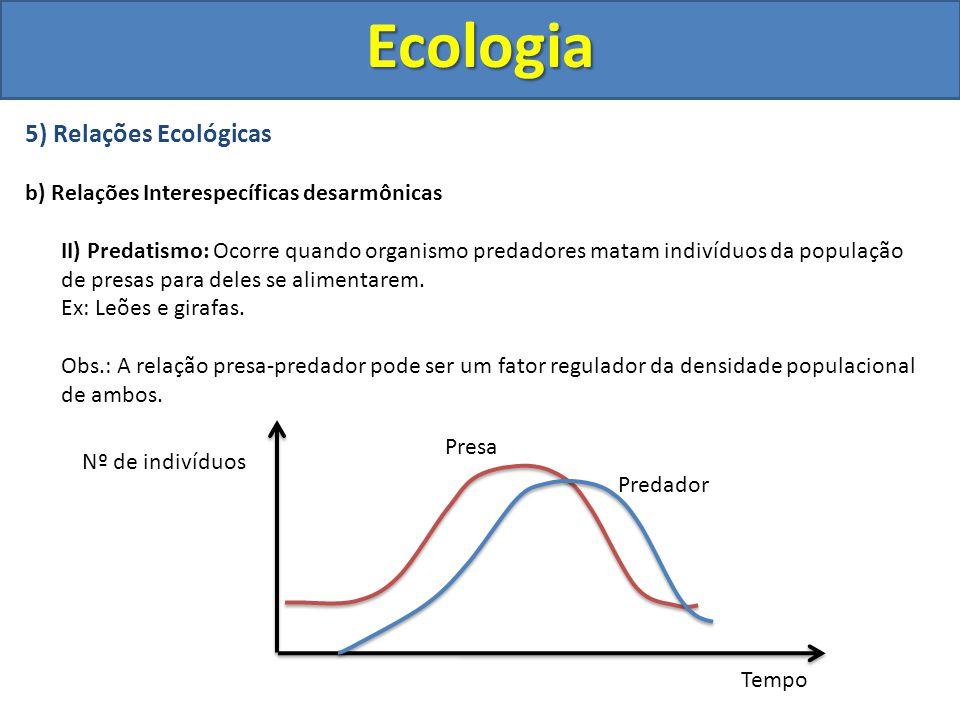Ecologia 5) Relações Ecológicas