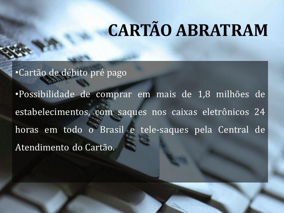 CARTÃO ABRATRAM Cartão de débito pré pago