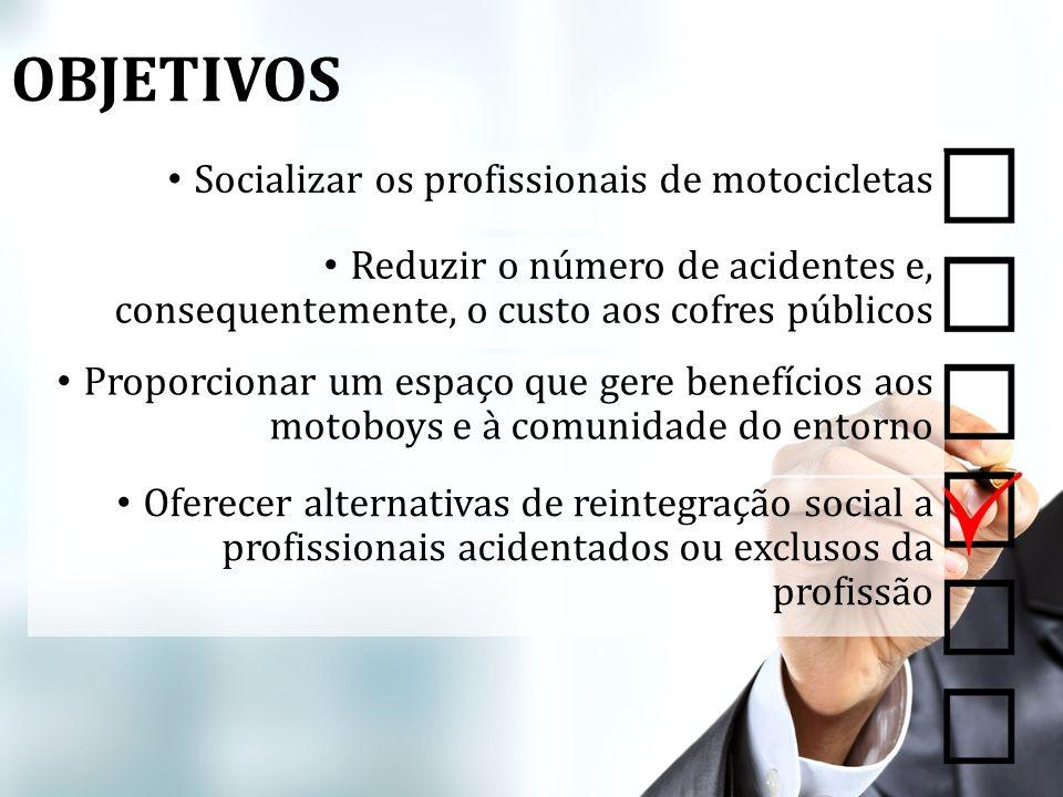 OBJETIVOS Socializar os profissionais de motocicletas