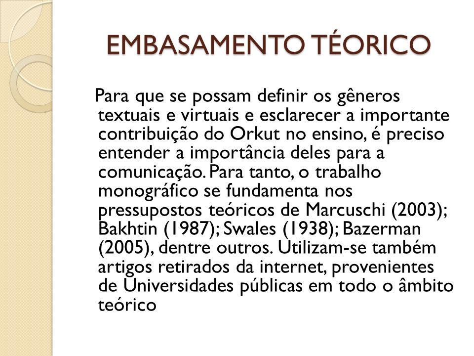 EMBASAMENTO TÉORICO