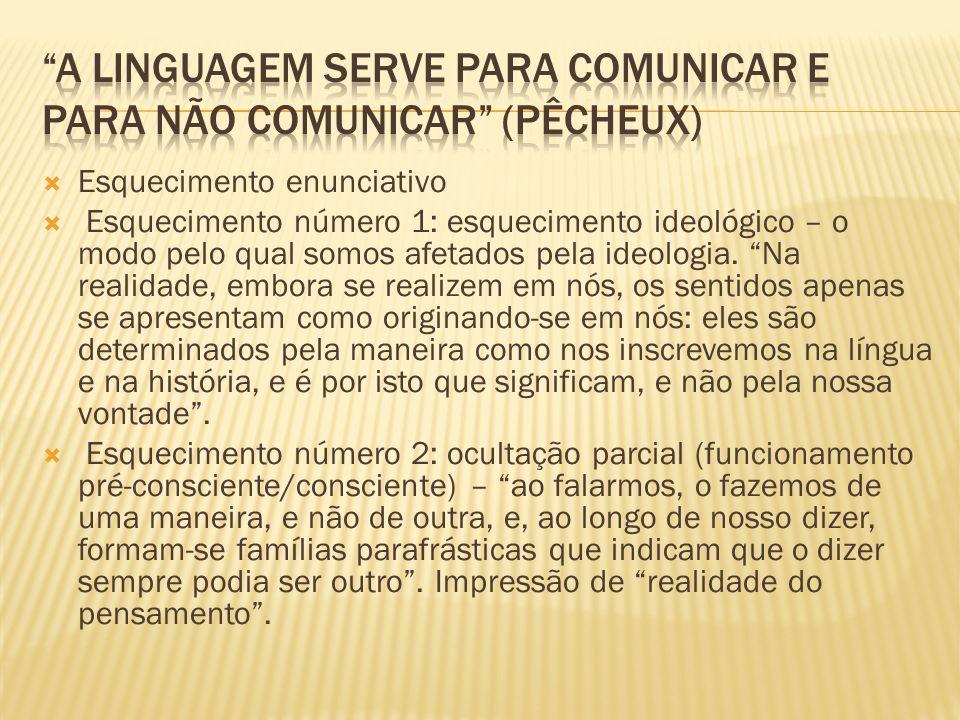 a linguagem serve para comunicar e para não comunicar (Pêcheux)