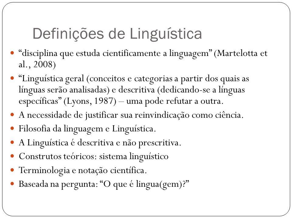 Definições de Linguística