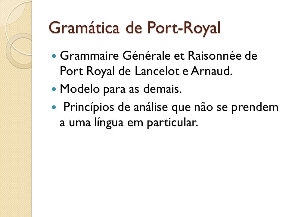 Gramática de Port-Royal