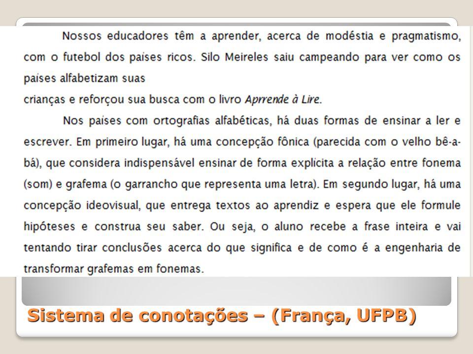 Sistema de conotações – (França, UFPB)