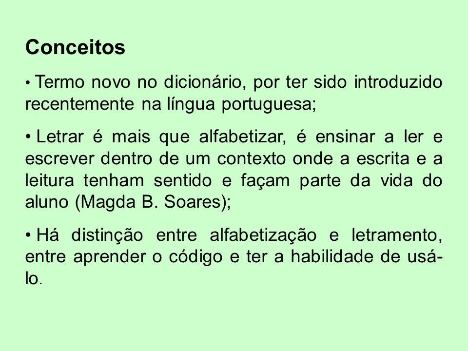 Conceitos Termo novo no dicionário, por ter sido introduzido recentemente na língua portuguesa;