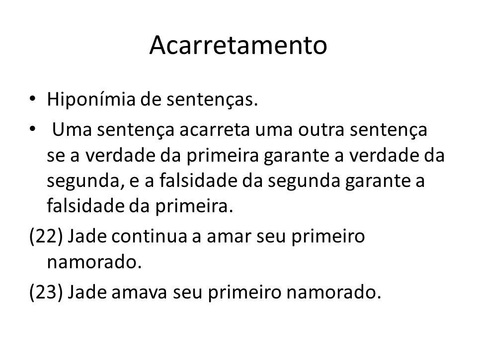 Acarretamento Hiponímia de sentenças.