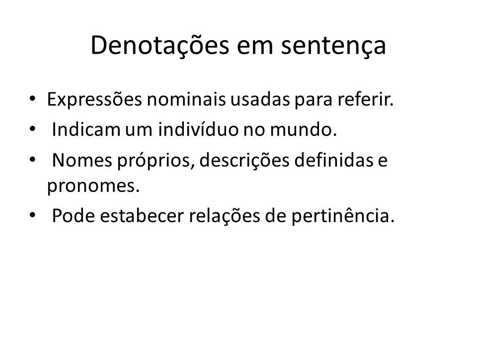 Denotações em sentença