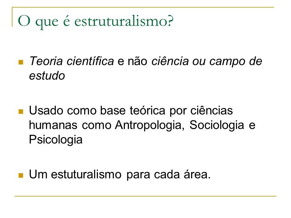 O que é estruturalismo Teoria científica e não ciência ou campo de estudo.