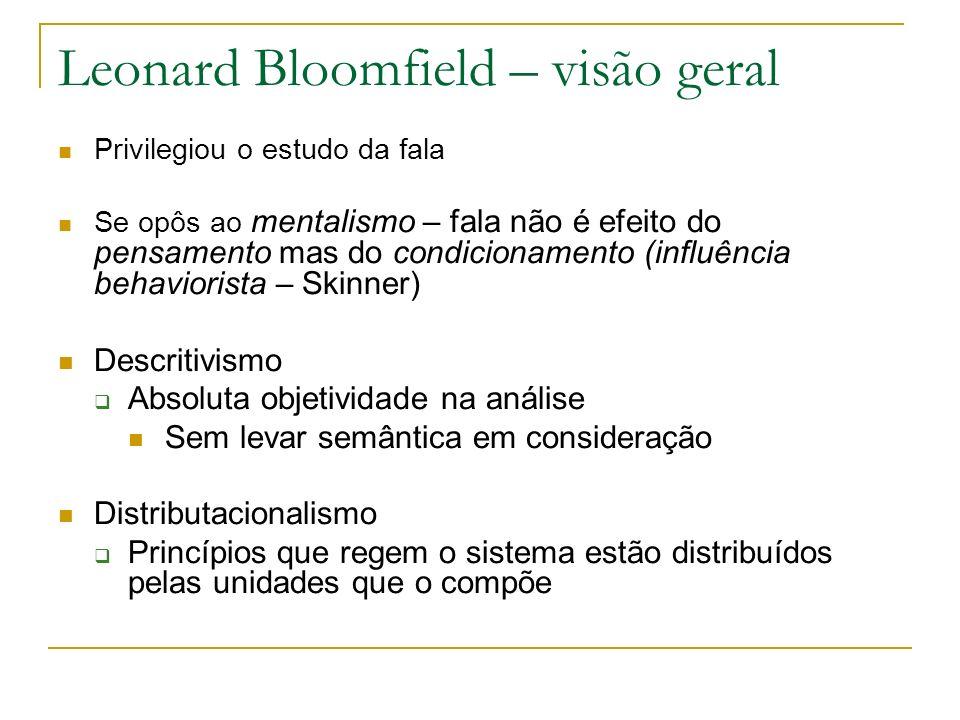 Leonard Bloomfield – visão geral