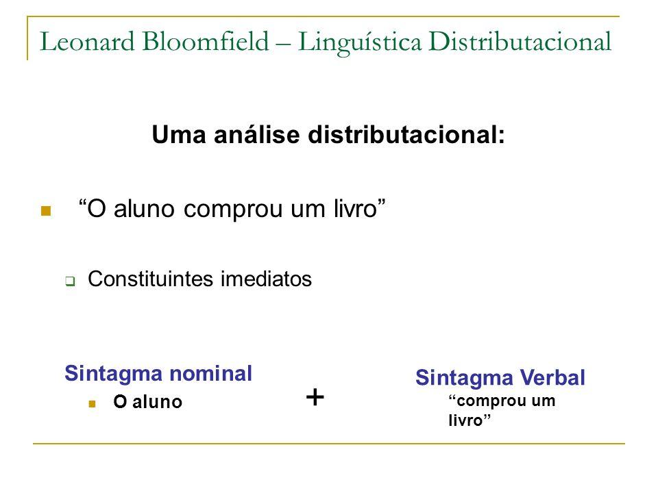 Leonard Bloomfield – Linguística Distributacional