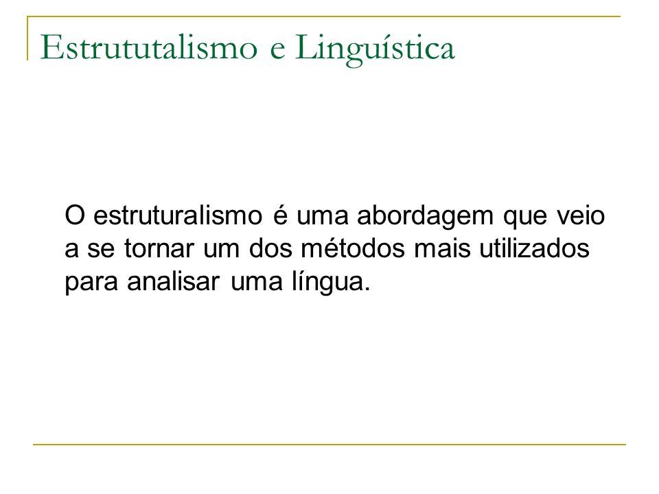 Estrututalismo e Linguística