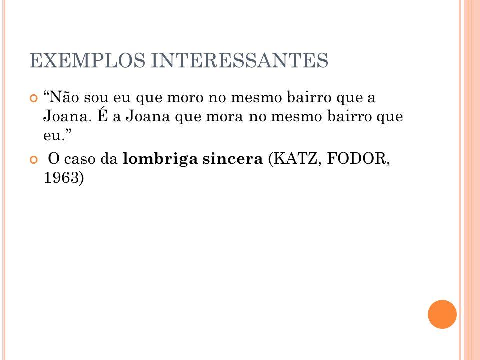EXEMPLOS INTERESSANTES
