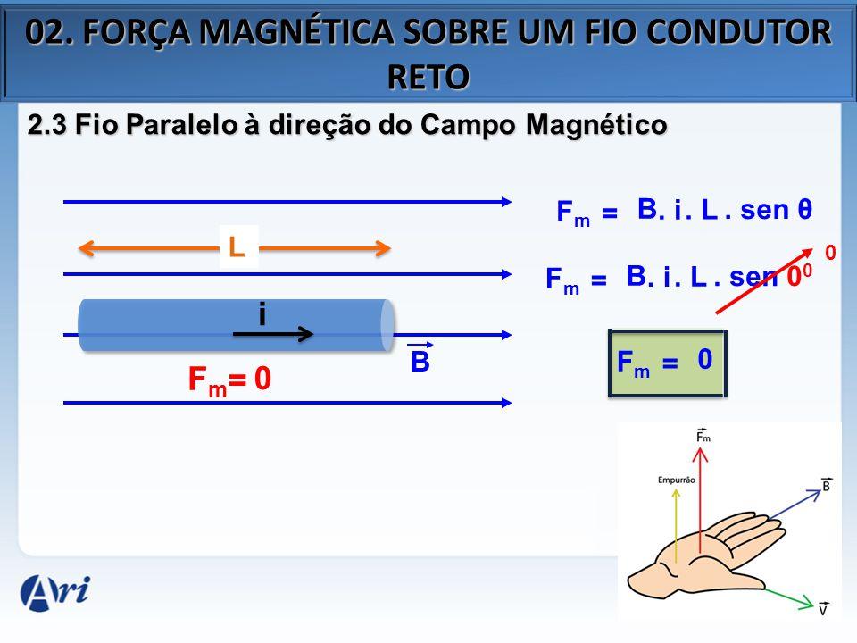 02. FORÇA MAGNÉTICA SOBRE UM FIO CONDUTOR RETO
