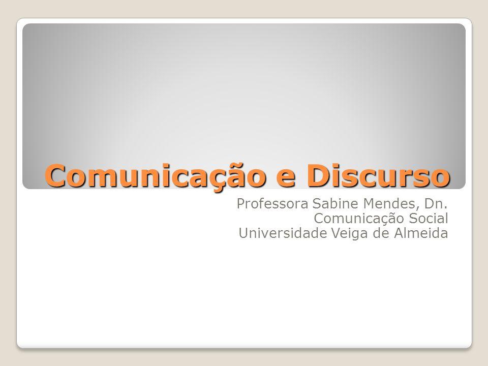 Comunicação e Discurso