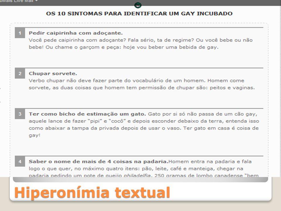 Hiperonímia textual