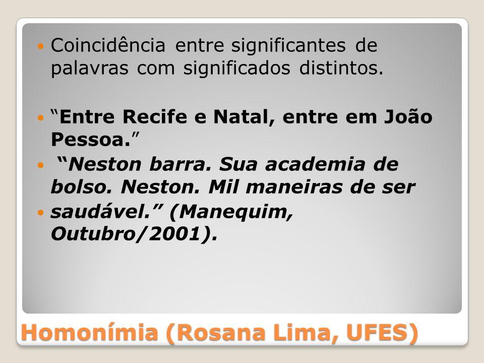 Homonímia (Rosana Lima, UFES)