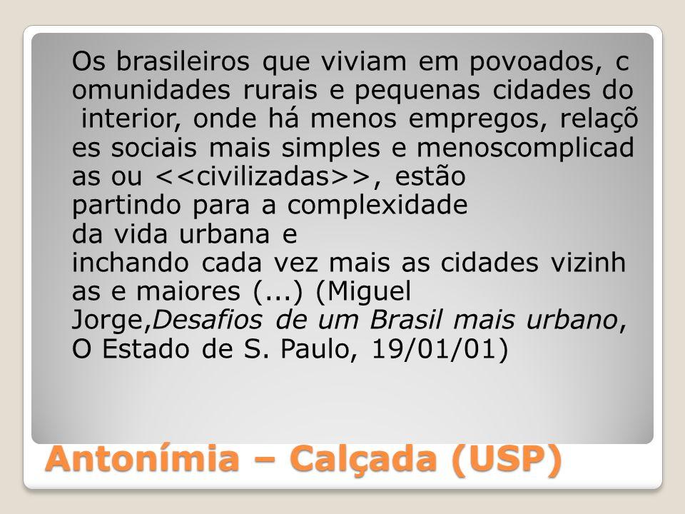 Antonímia – Calçada (USP)