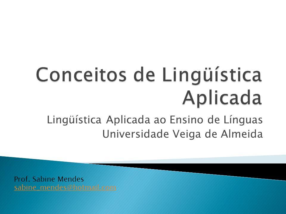 Conceitos de Lingüística Aplicada