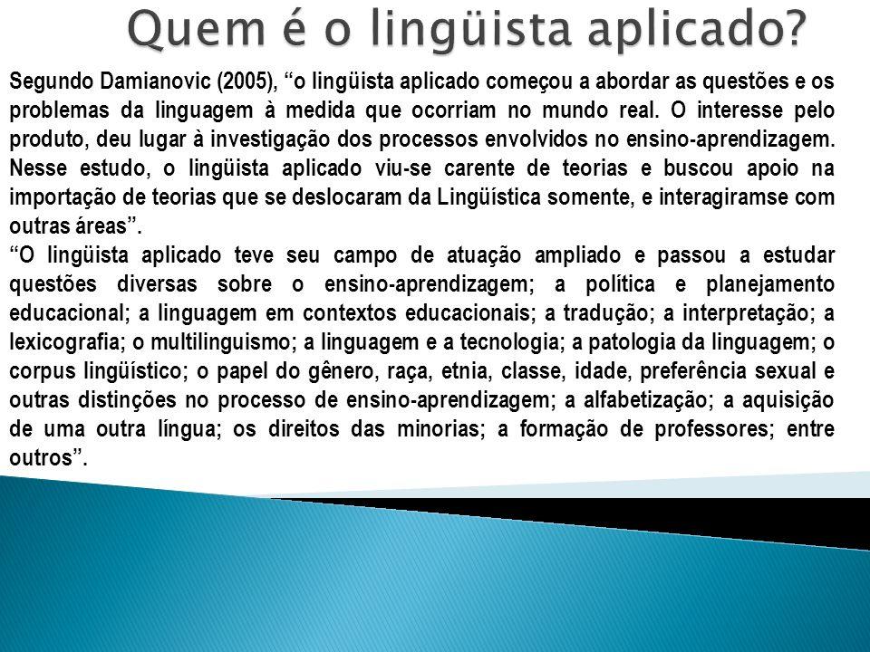 Quem é o lingüista aplicado