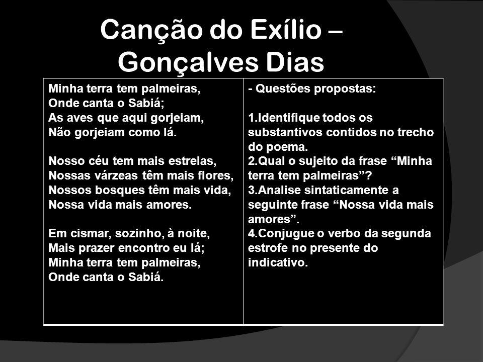 Canção do Exílio – Gonçalves Dias