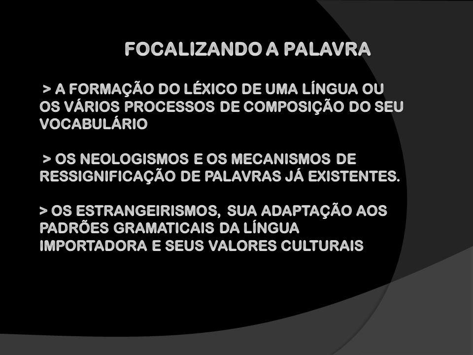 FOCALIZANDO A PALAVRA