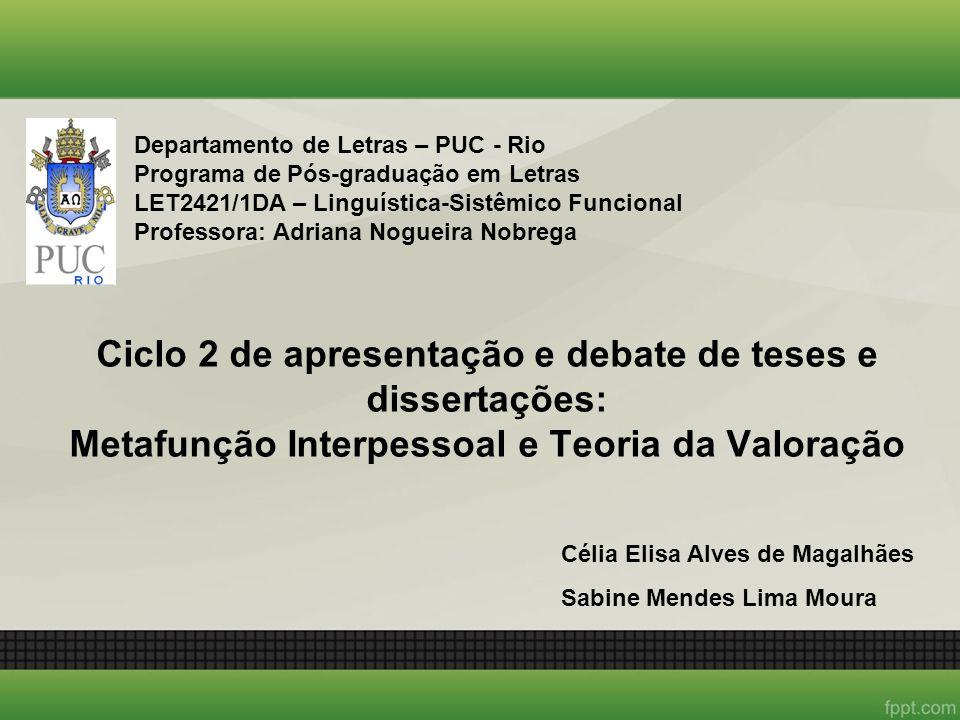 Departamento de Letras – PUC - Rio Programa de Pós-graduação em Letras