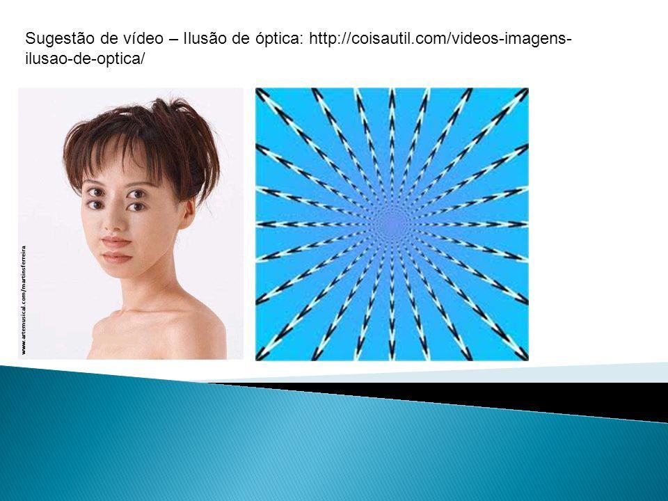Sugestão de vídeo – Ilusão de óptica: http://coisautil