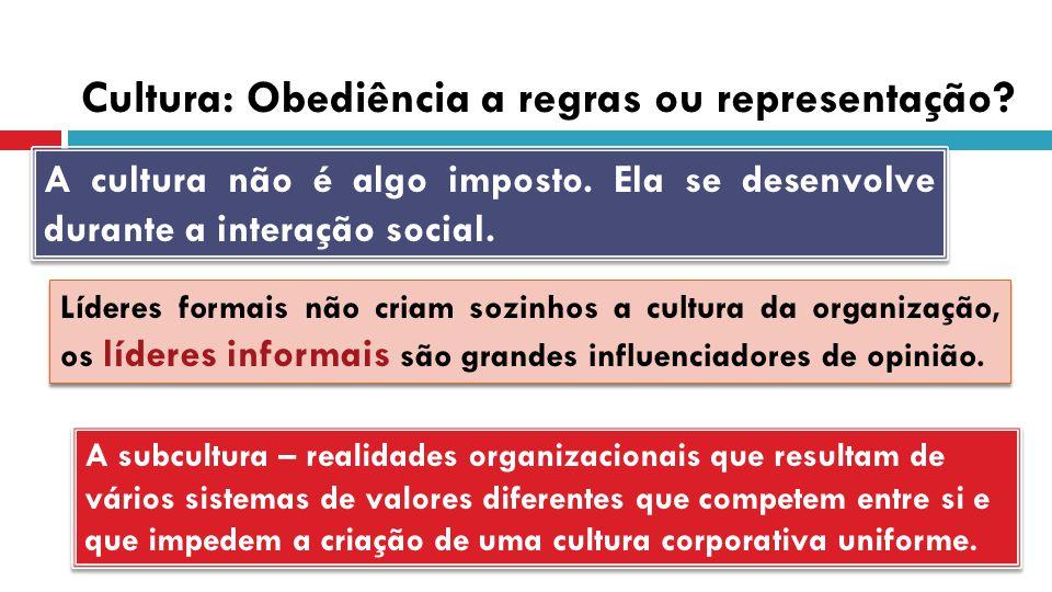 Cultura: Obediência a regras ou representação
