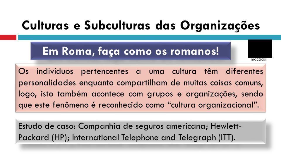 Culturas e Subculturas das Organizações