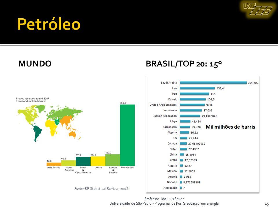 Petróleo Mundo Brasil/top 20: 15º 15