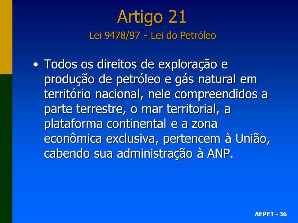 Artigo 21 Lei 9478/97 - Lei do Petróleo