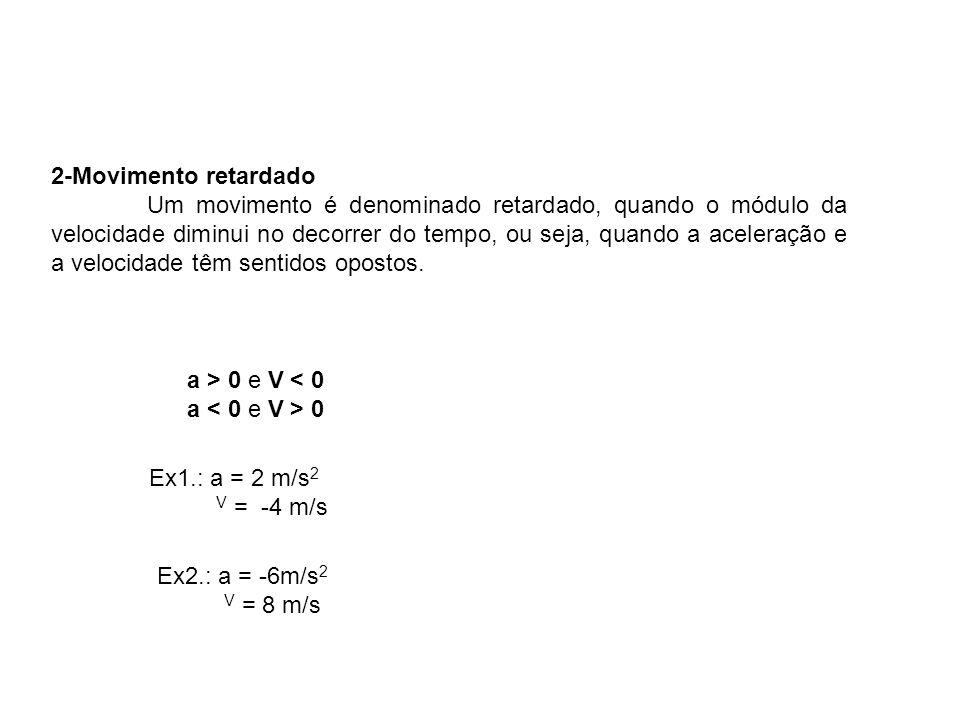 Física, 1º Ano Cinemática. 2-Movimento retardado.