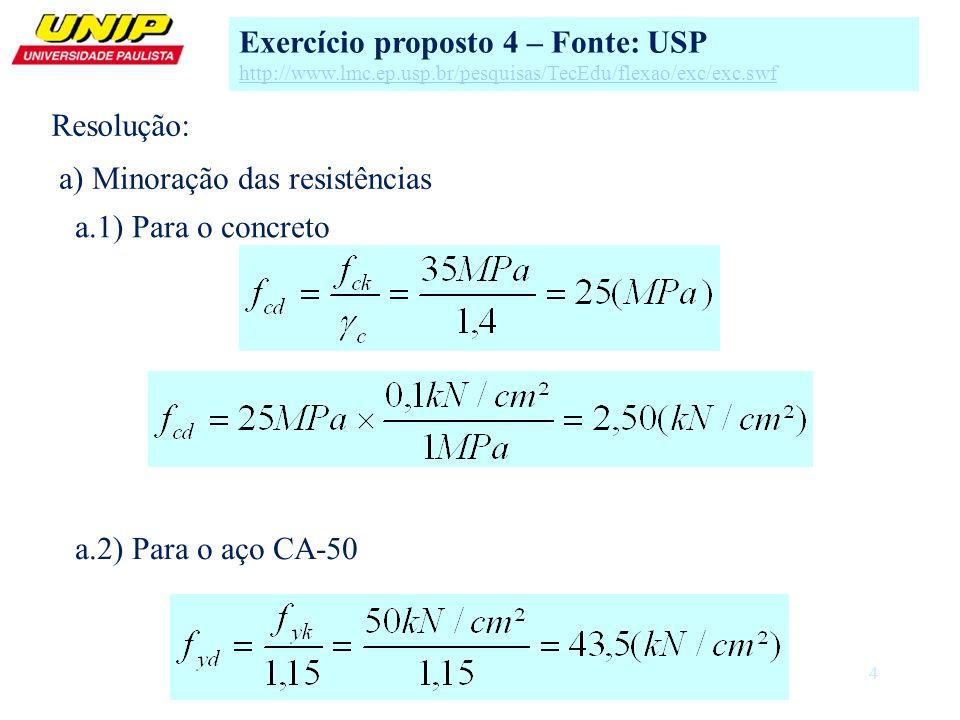 Exercício proposto 4 – Fonte: USP