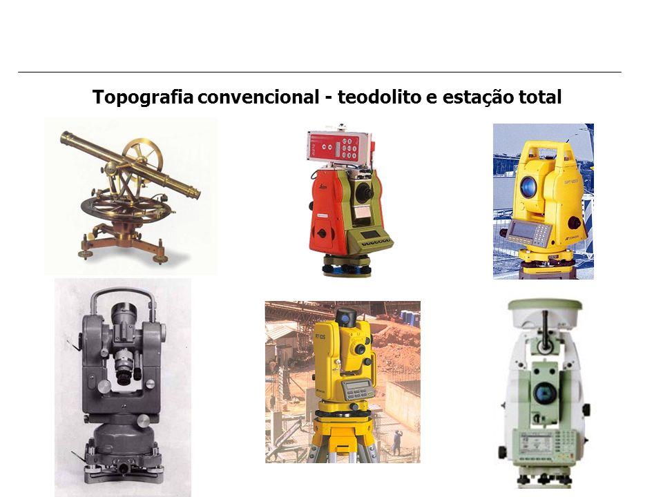 Topografia convencional - teodolito e estação total